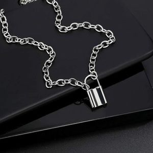 Cute PadLock Necklaces for Women in Silver